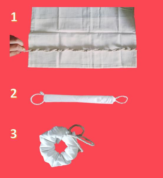 Anleitung Shibori Technik Batiken 2
