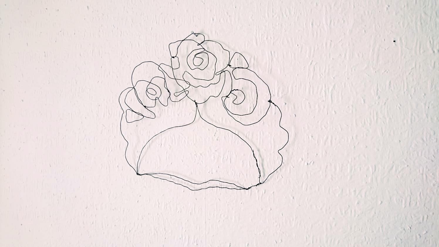 DIY Drahtbild Frida Kahlo (2)