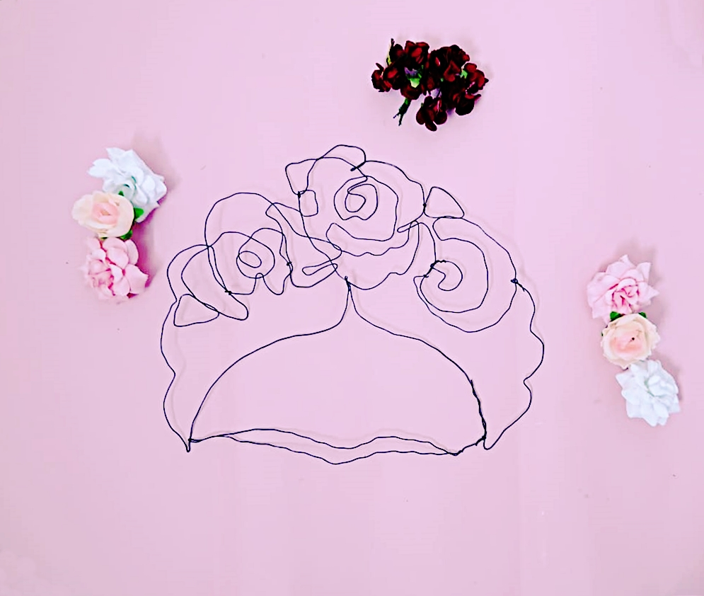 DIY Drahtbild Frida Kahlo (7)
