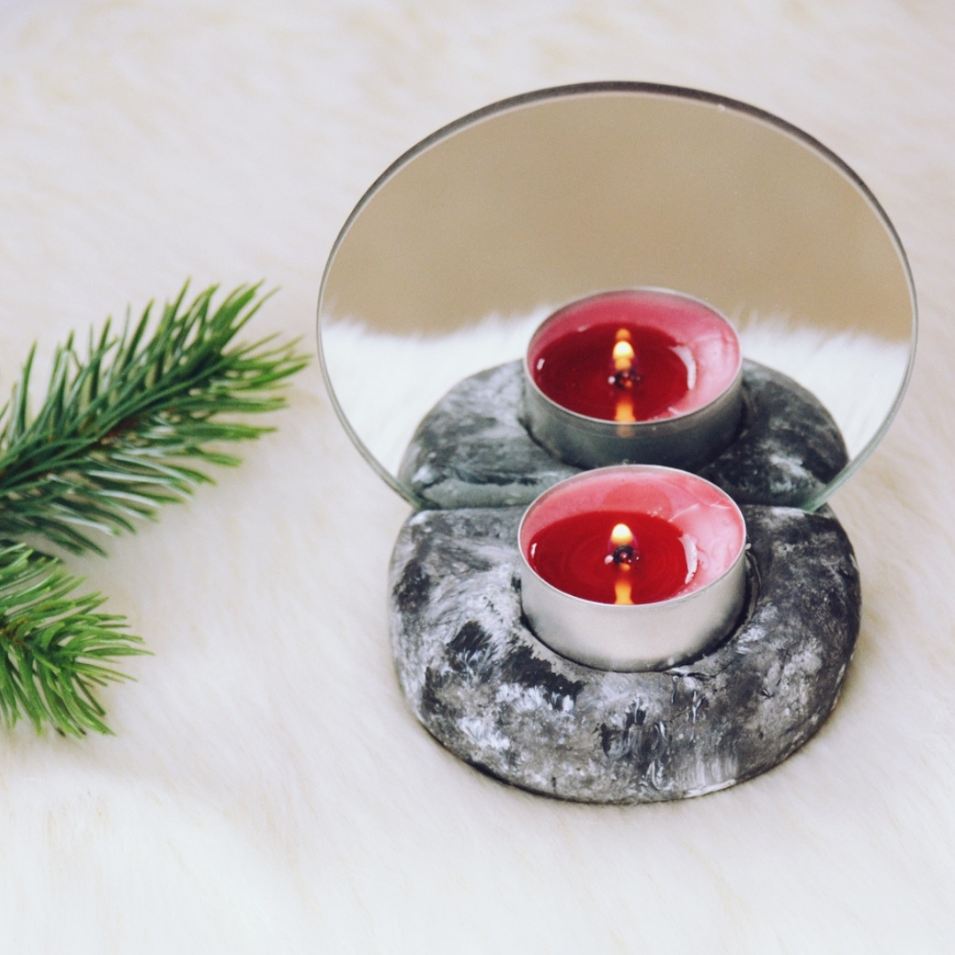 Diy Teelichthalter Mit Spiegel Einfach Selber Machen Julia To The Fullest