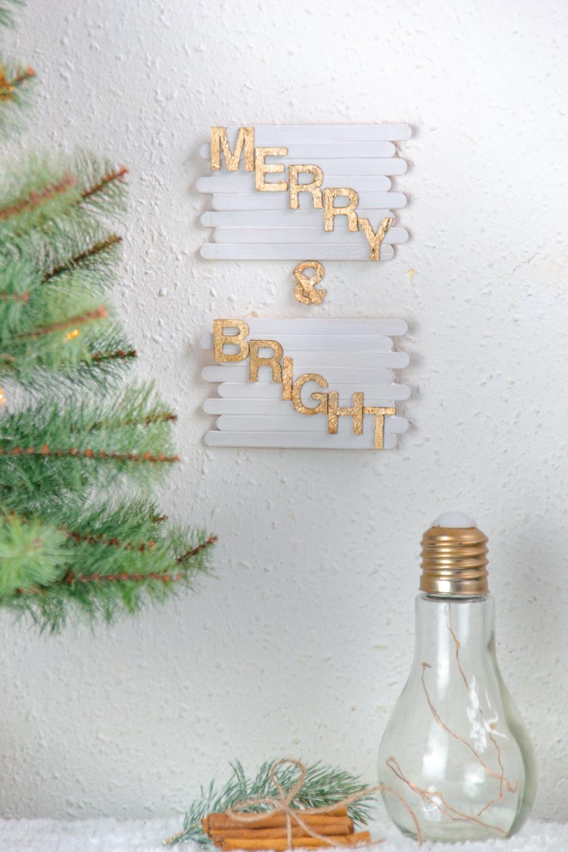 DIY basteln mit Eisstäbchen. Basteln mit Holzstäbchen und Blattgold für Weihnachten. Weihnachtsdeko basteln DIY Weihnachtsdeko Merry & Bright (49).jpg