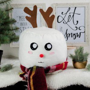 DIY Marshmallow Rentier Kissen Weihnachten Geschenkidee, DIY Geschenkidee weihnachten, weihnachtsgeschenke ideen, Geschenke selber basteln, rentierkissen, kissen nähen, Marshmallow kissen, DIY marshmallow reindeer pillow
