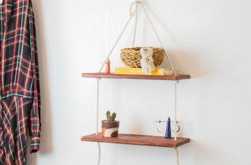 DIY Seil Regal - Hängendes Regal selber bauen - Hängeregal DIY aus Holz und Seil selber machen