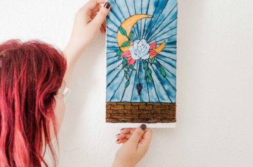 DIY Deko in Buntglas-Optik, Buntglas Deko selber machen - Window color selber machen - DIY Window color - Buntglas Alternative - stylische DIY Deko