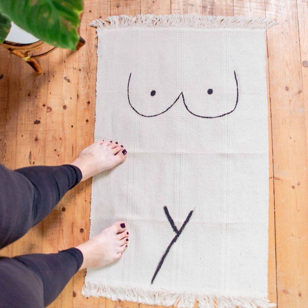 DIY Teppich mit Body Print