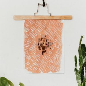 DIY Kunst im Boho Stil mit Gabeldruck