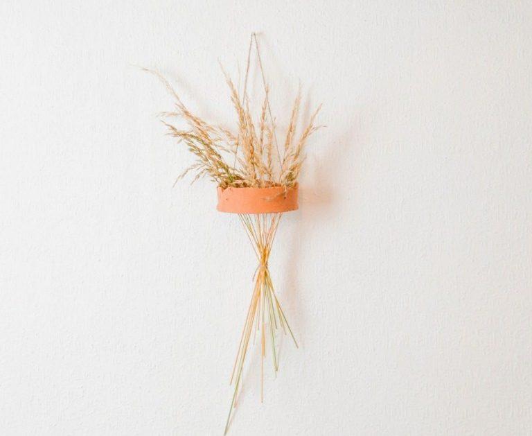 DIY Trockengräser Vase