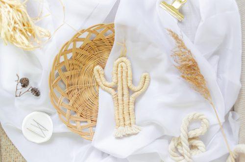 DIY Makramee Kaktus / Fiber Kakuts aus Wolle und Naturbast seil
