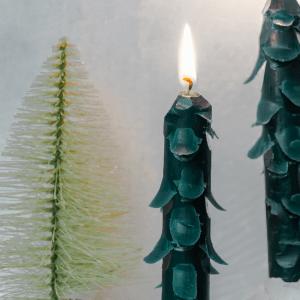 DIY Tannebaum Kerzen basteln Kerzen deko Hack weihnachten