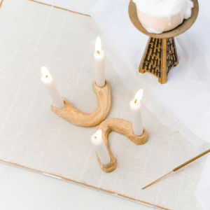 diy kerzenständer diy blog moderner kerzenstöänder halbkreis bogen aus modelliermasse clay candleholder arch shape diy basteln blog regensburg
