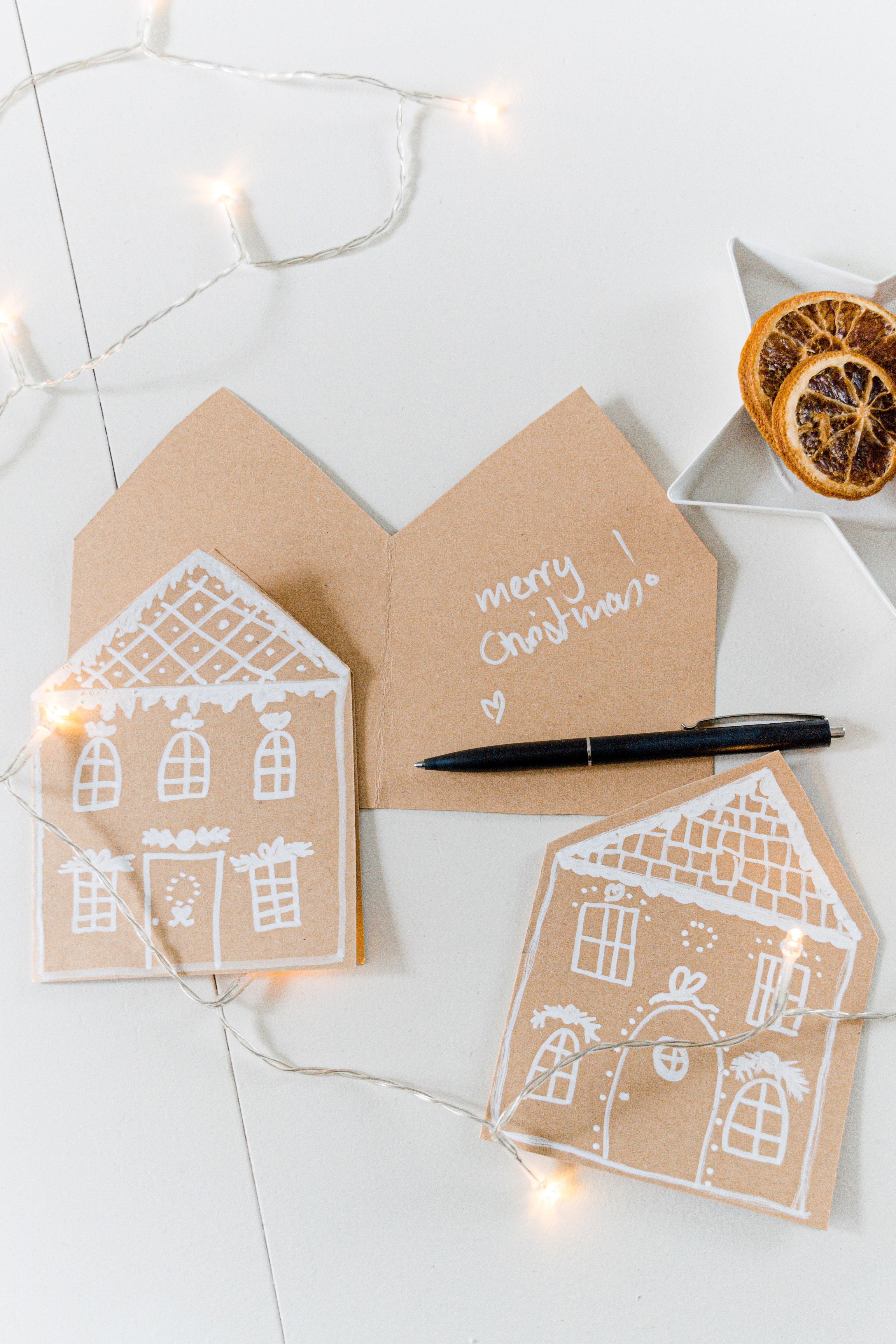 Lebkuchenhaus Weihnachtskarten